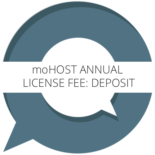 MoHost Annual License Fee - Deposit